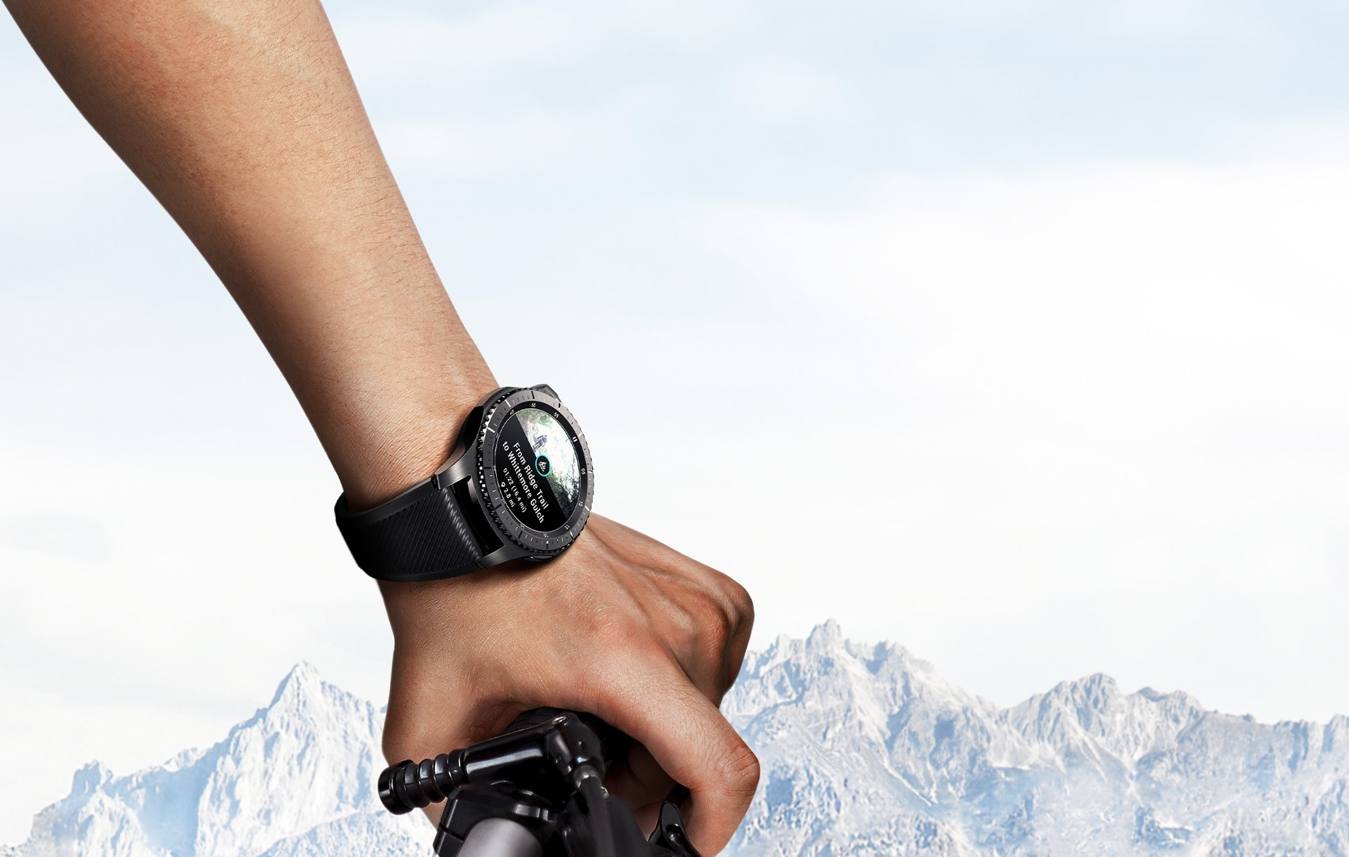 Gear S3 is worn on wrist