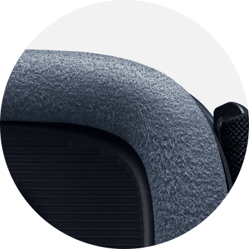 Closeup of Gear VR's foam cushioning
