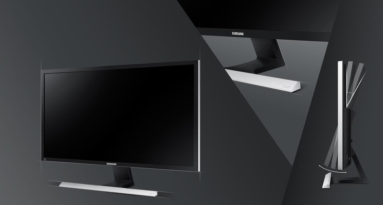 Εκλεπτυσμένος σχεδιασμός σε μαύρο ματ και βάση σχήματος Τ με μεταλλικό φινίρισμα