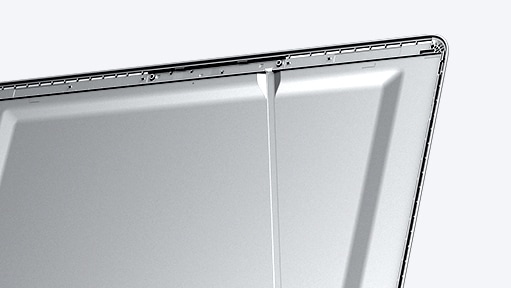 A magnified image showing the Notebook 9's top frame