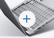 An thumbnail image showing the Notebook 9's cover open with its keyboard and palm rest frame magnified.