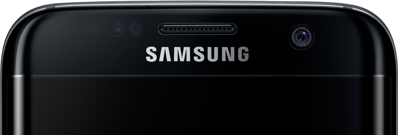 Cropped front view of galaxy s7 edge