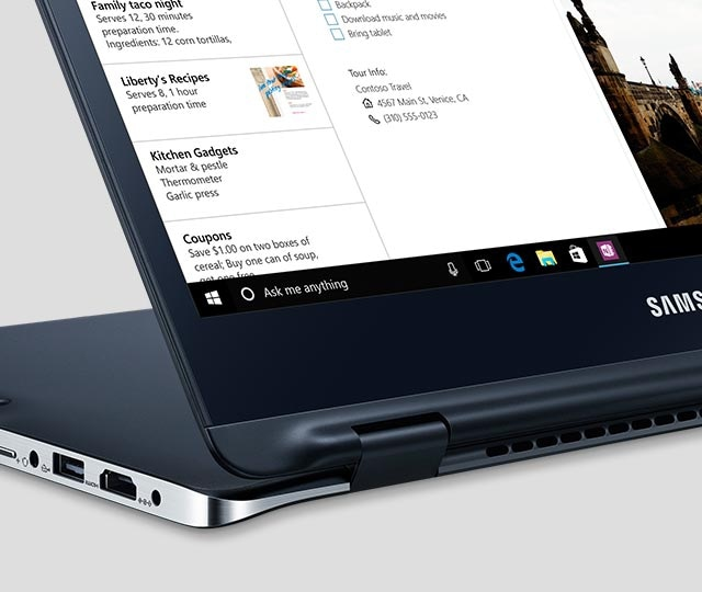 An image showing the Notebook 9 spin being used in Kiosk Mode.