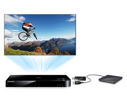 Élvezze a tartalmakat USB-ről vagy külső HDD-ről