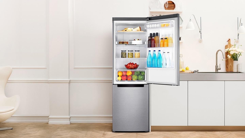 Rendezd ételeid optimálisabban és élvezd jobban: Samsung Fehér Kombinált Hűtőszekrény, RB33J3205WW