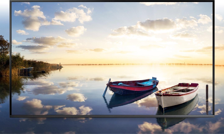 Fényes és élettel teli tájkép a Samsung UHD TV képernyőjén