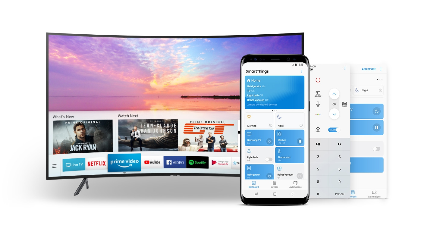 Samsung 65 Nu7300 Curved 4k Uhd Smart Tv Harga Di Indonesia Rsa1stsl1xse Kulkas Side By Smartthings App Just One For All