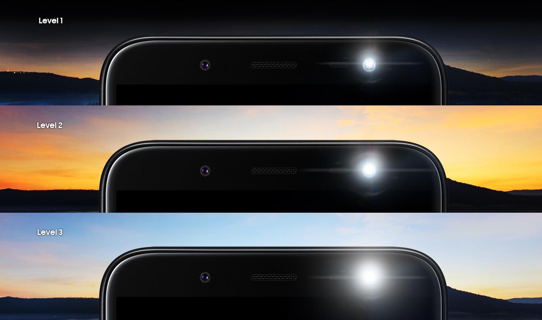 Three levels of brightness