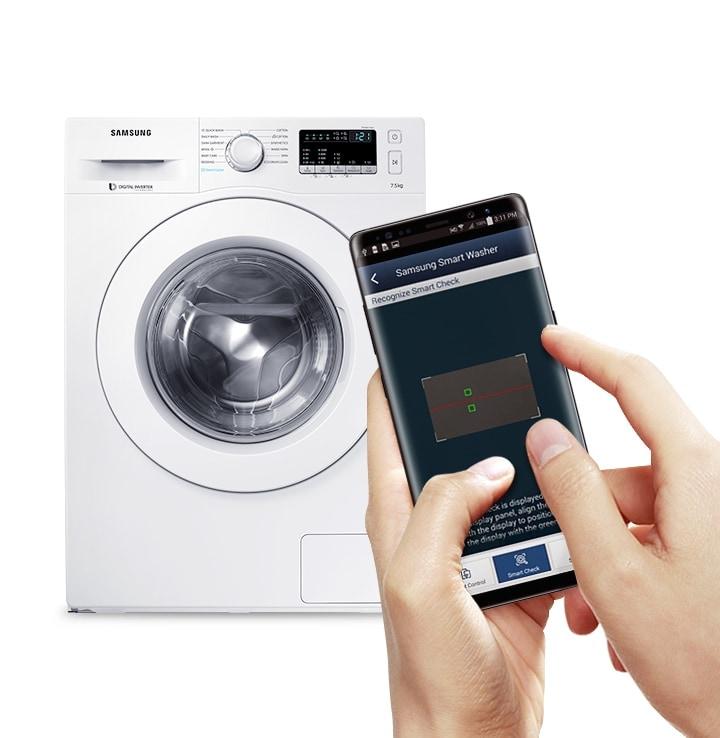 WW10K6410QW - Mendeteksi dan mendiagnosa masalah serta memberikan solusi pemecahan masalah dengan cepat menggunakan App smartphone