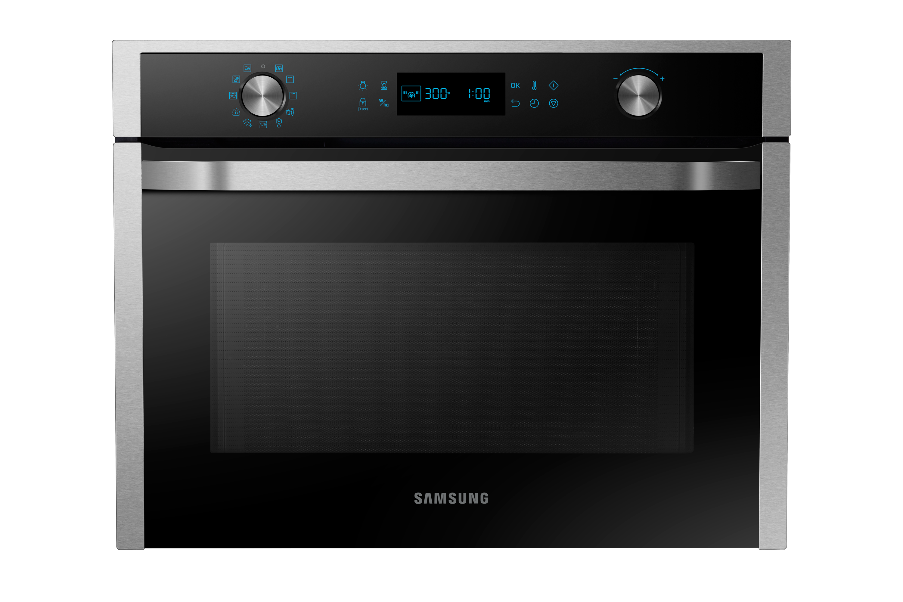 NQ50J5530BS Chef Collection Compact Oven, 50L with Steam-cleaning