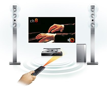 High-quality surround sound from your TV