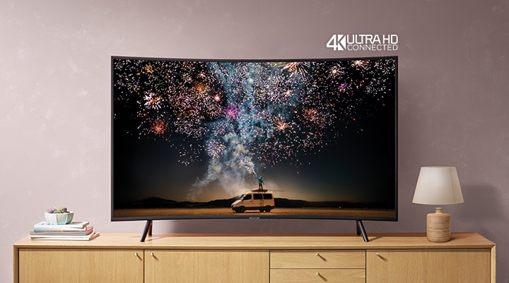 Discover immersive picture quality with our RU7300 Curved 4K TV