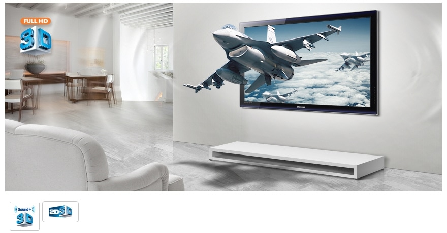 Immerse your senses in a complete 3D experience