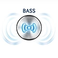 Controlled bass effect to your liking