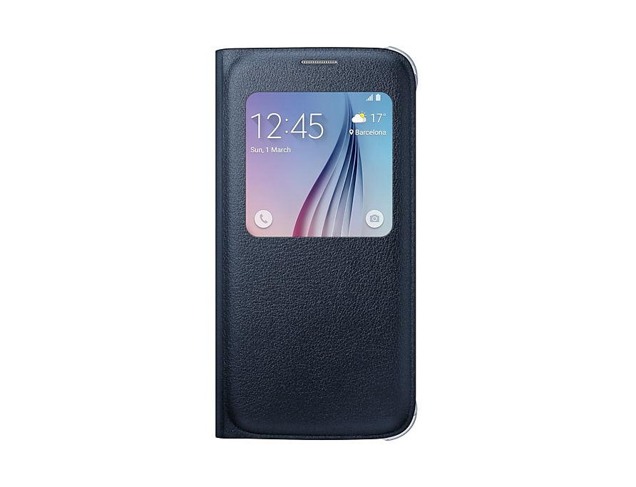 timeless design 9a403 95157 Galaxy S6 S View Cover / Case (Blue / Black) | Samsung Ireland