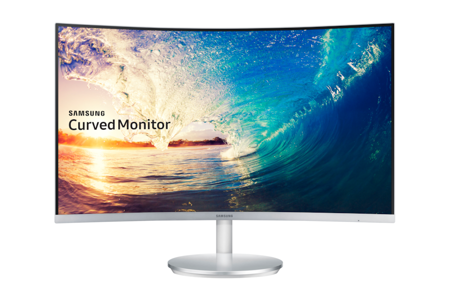 27 Curved Monitor - 1.8m Curve Radius Full HD with Crystal Colour LC27F591FDUXEN C27F591FDU Front white