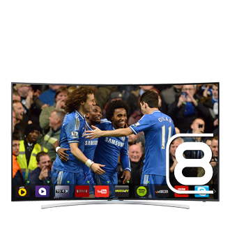 65 H8000 Series 8 Smart 3D Curved Full HD LED TV