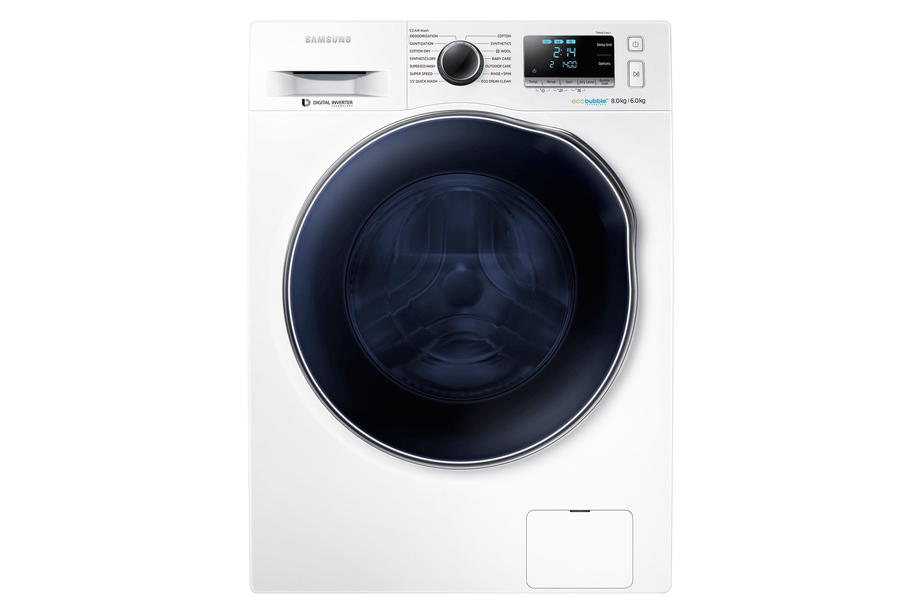 WD6000 Washer Dryer with ecobubble™, 8 kg