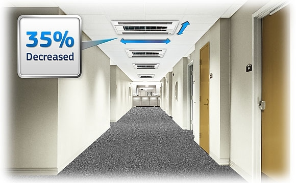 Samsung 2 Way Cassette AC are ideal for long and narrow places