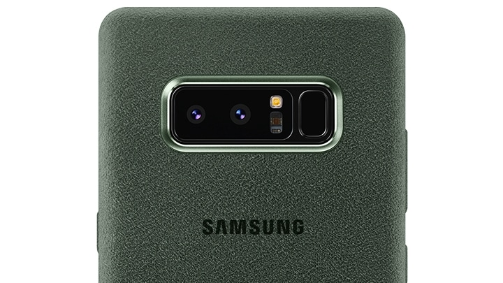 Premium protection with Galaxy Note 8 Alcantara Cover