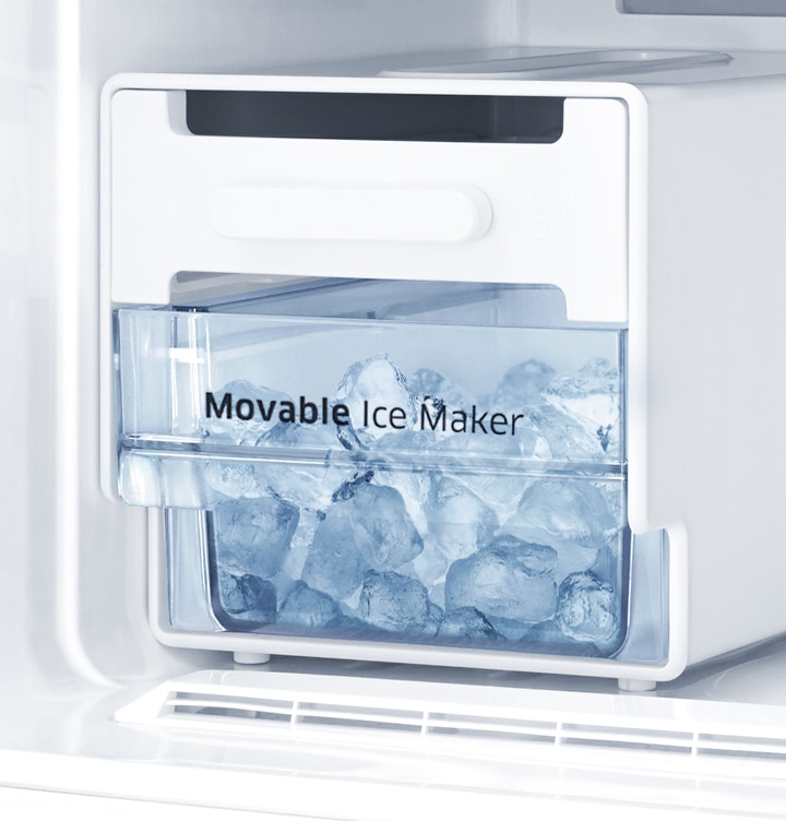 Top Mount Fridge - Movable Ice Maker ( Easily Removable and usable)