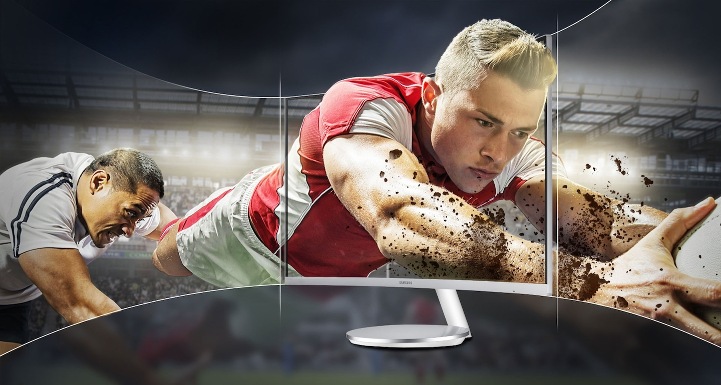 Immersive viewing experience with latest 27 inch curved desktop
