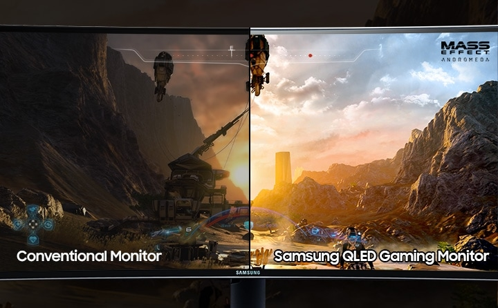 Samsung 48.9 inch Curved Gaming Display with high dynamic range