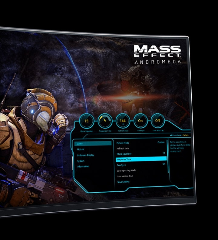 Game-style OSD Dash in Samsung Curved Gaming Display 48.9 inch