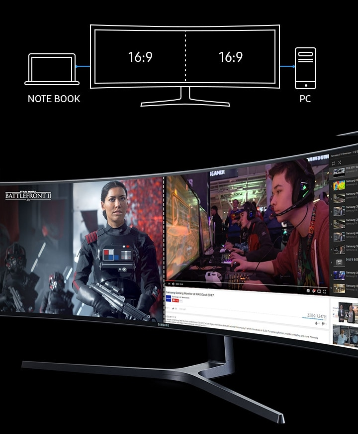 Best Picture-by-Picture Feature in 48.9 inch Samsung Curved Monitor