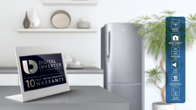 Samsung 1 Door Inverter Refrigerator - Digital Inverter Technology