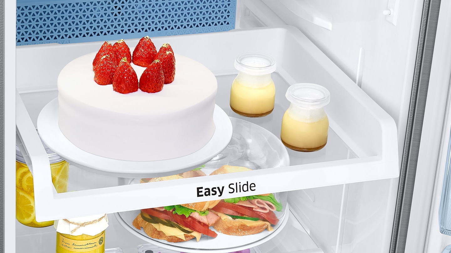 Top Mount Fridge - Easy Slide Shelf