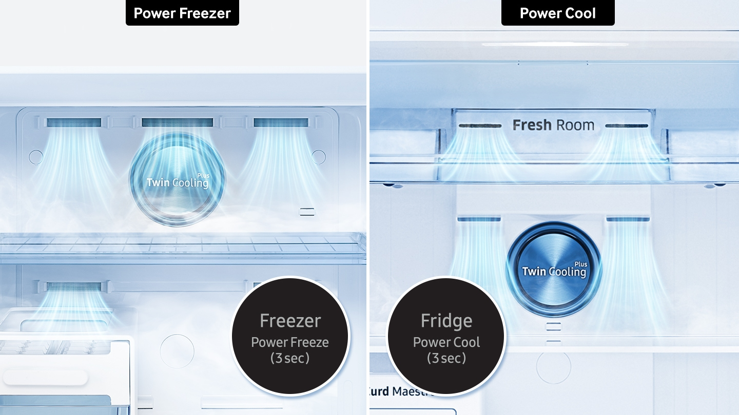 Samsung Top Mount Refrigerator - Power cool/Power freeze Feature
