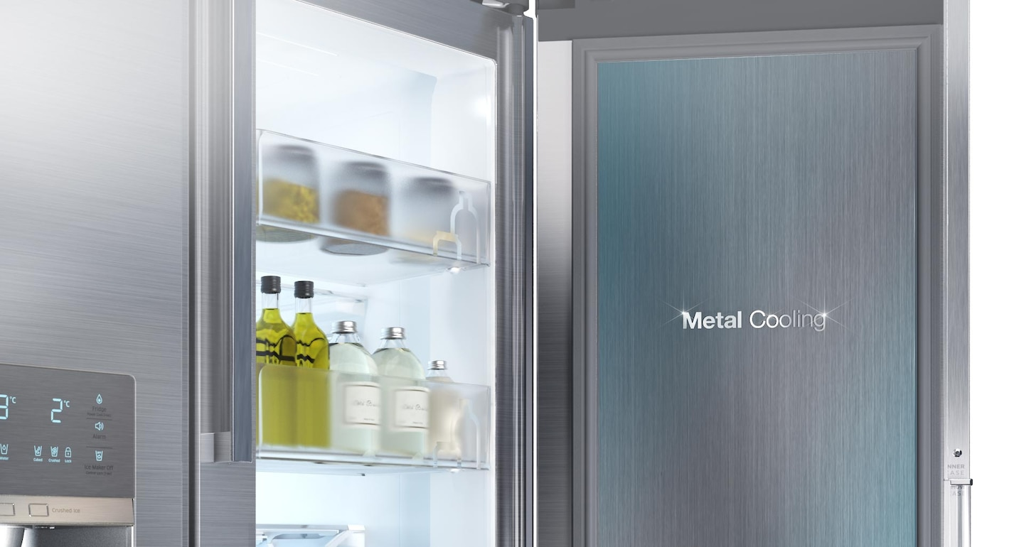 Fridge with Metal Cooling guard