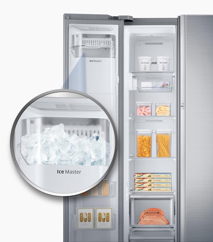 Refrigerator with more ice & more space