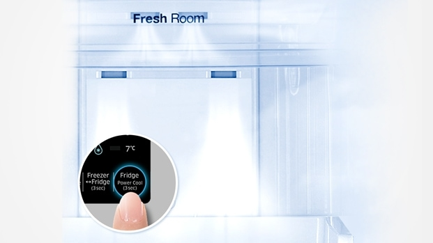 Refrigerator with Power Cooling
