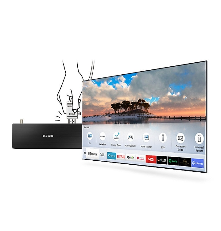 55 inch Smart Full HD LED TV with auto detection feature