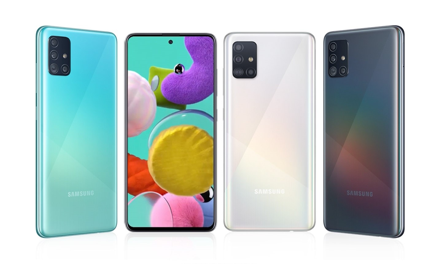 "Samsung Galaxy A51 is an awesome android smartphone in Samsung Galaxy A Series review - features, specs, release date, price, launch and latest system upgrades. It has 16.40cm (6.5"") Infinity-O sAMOLED display, 48MP Quad camera, 6GB RAM +128GB storage and  4,000mAh battery with 15W Fast charging."