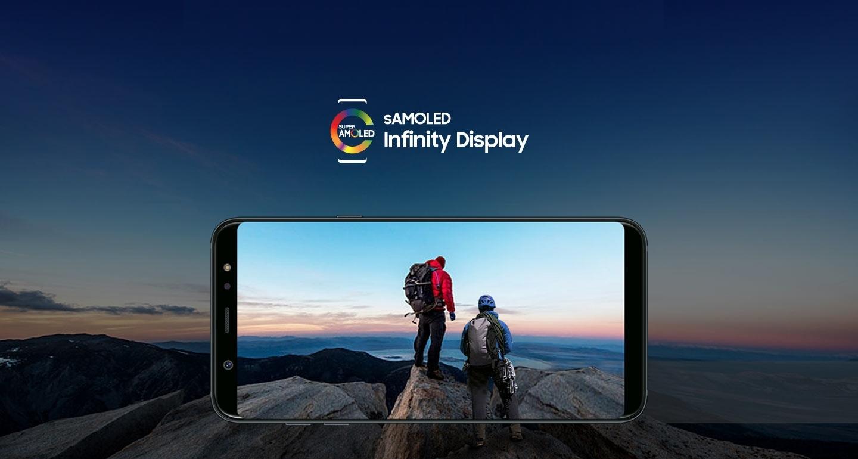 Pantalla Infinity SAMOLED con Galaxy A6 +