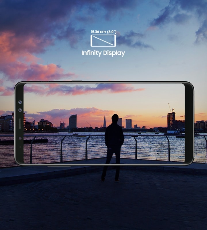 Samsung Galaxy A8+ with Large Infinity Display