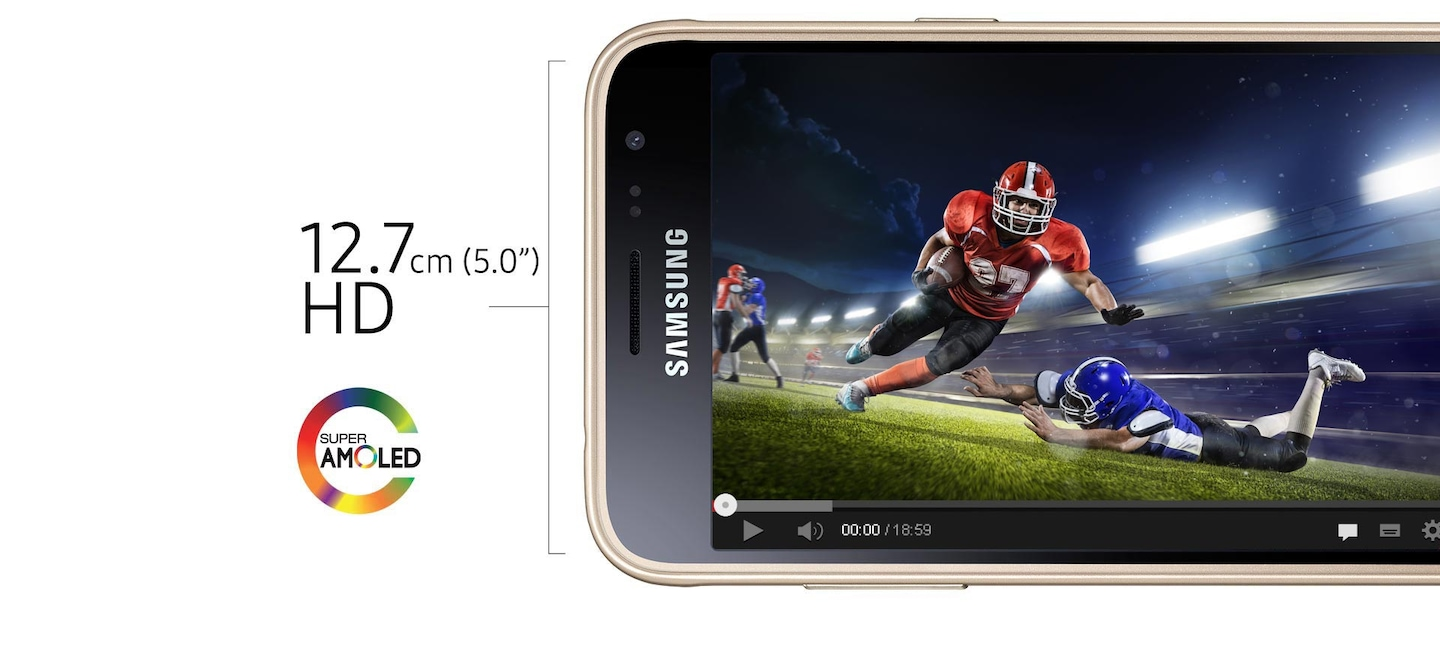 Galaxy J3 Smartphone with sAMOLED Display