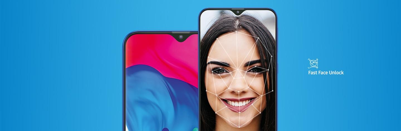 Samsung Galaxy M10 (2GB RAM) with Fast Face Unlock