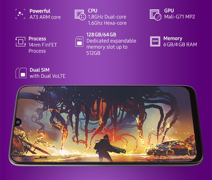 Galaxy M30 (6GB RAM)-I'M BATTLE READY