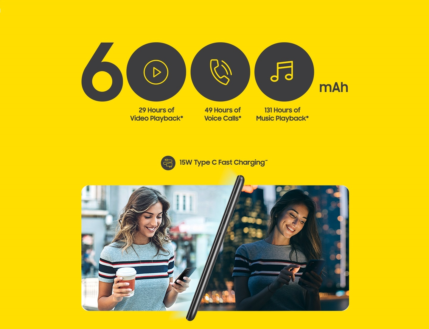 Galaxy M30s - 6000 mAh battery