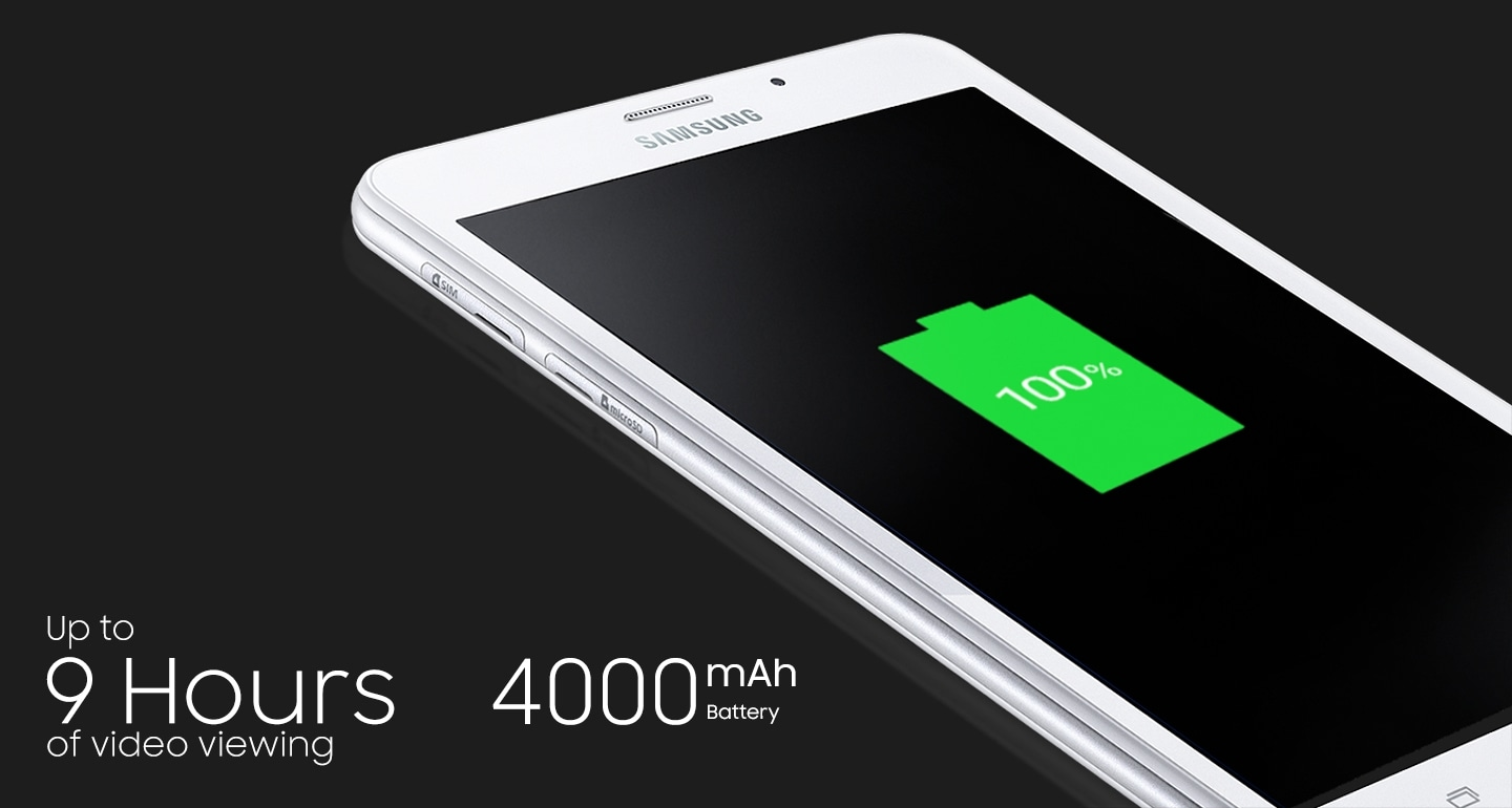Samsung latest 7 inch tablet with 4000 mAh battery