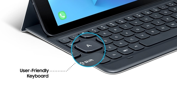 Samsung Galaxy Tab S3 keyboard cover with user friendly keyboard