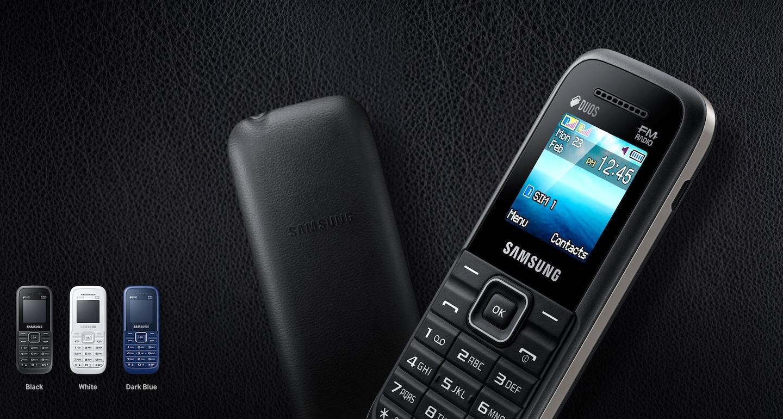 Latest Samsung Guru FM Plus with leather-feel rear casing