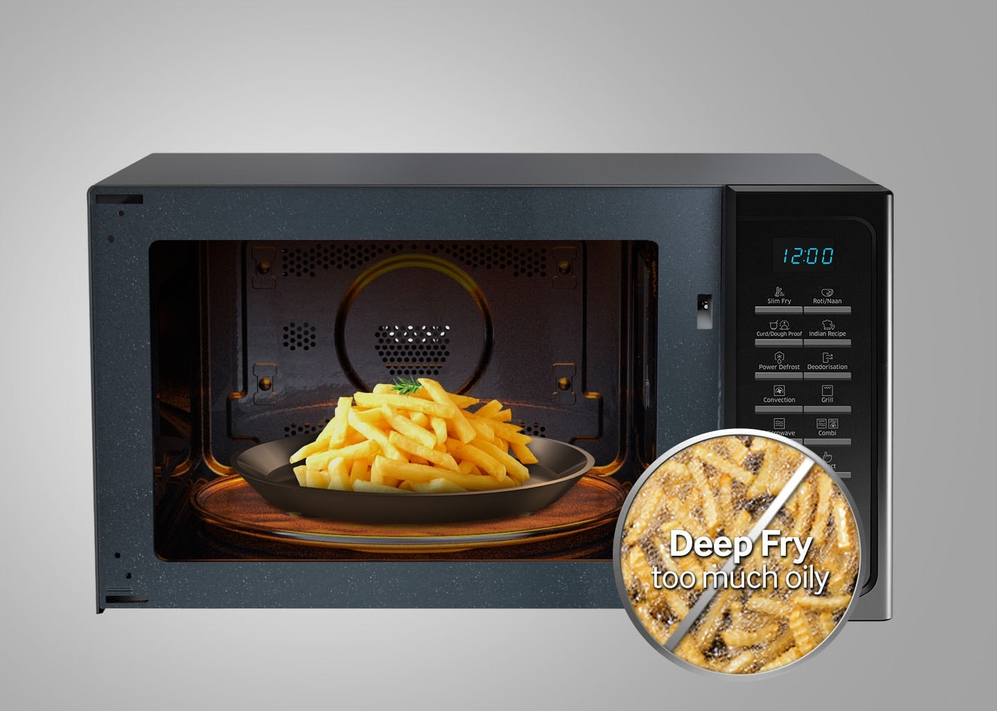 Microwave with oil free cooking