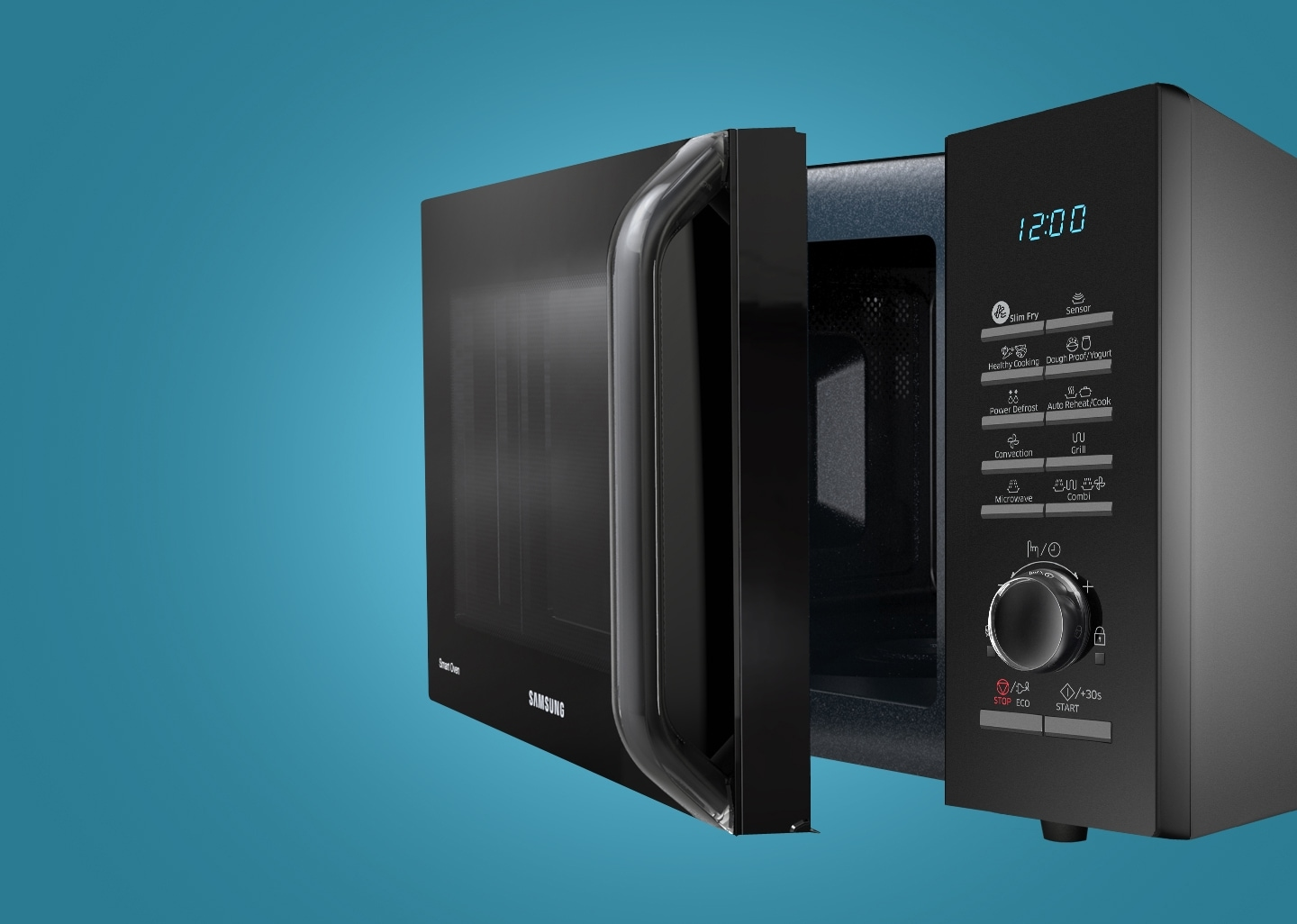 Microwave with touch panel