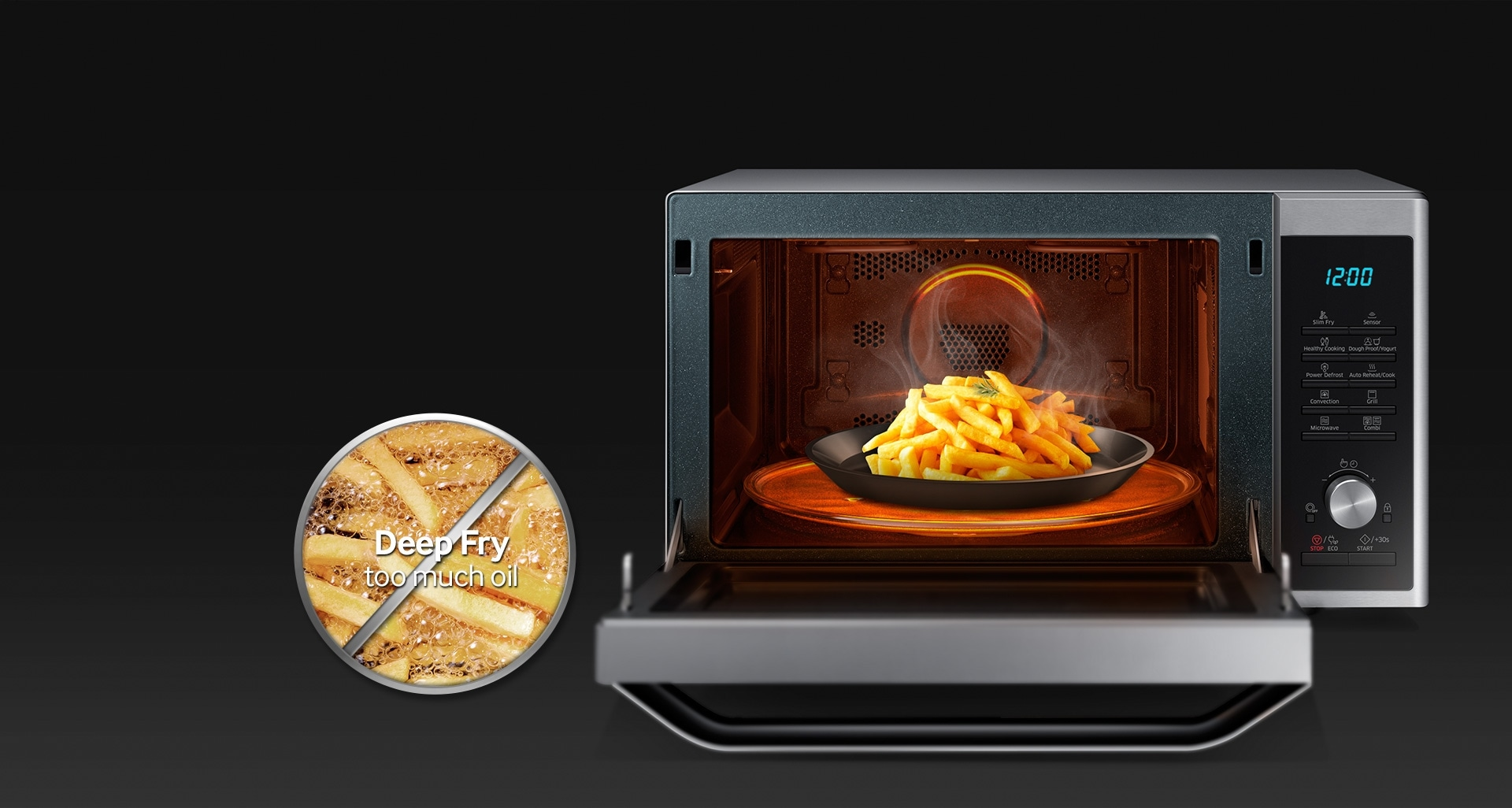 Oven with slim fry
