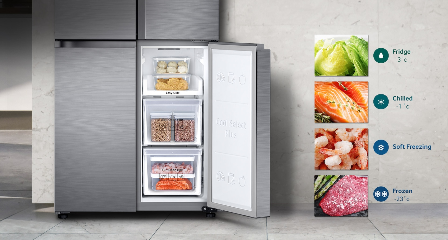 Samsung French Door Refrigerator with CoolSelect Plus Zone for Extra Storage